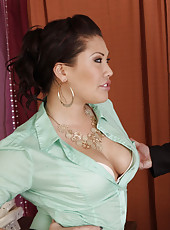 Hot asian London Keyes has sex in her office with big cocked boss.