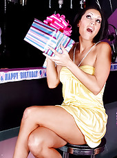 Dylan Ryder spends her birthday with best friend Jayden Jaymes and a cock.