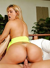 Juliana sucked and worked that cock and rode that dick as her round rump bounced all over then juliana got her asshole drilled in some awesome anal