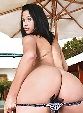 Watch this hot ass brazilian lap dance in her bikini then get fucked in her ass poolside