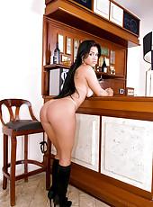 Super hot thick ass brazilian pounded hard agasint the bar hot fucking cumfaced bikini pics