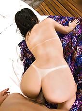 Hot ass brazilian bikini babe fucked hard in these wet pool sucking fucking anal drilling pics
