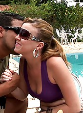Super hot big hot ass brazilian babe gets drilled hard in her tight ass by the pool in these hot fucking anal pussy cumfaced pics
