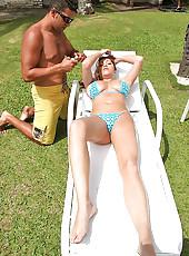 Melissa huicy brazilian juggs get fucked hard in these hot braz bikini pics