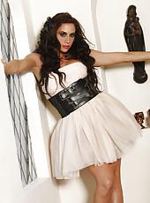 Chanel Preston in a maid uniform