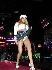 Gina Lynn strips and poses