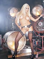 Blonde Babe Gina Lynn Poses