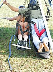 Gina Lynn Paraglides In Pics