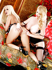 Blonde Lesbian Action Photo Set