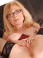 Nina Hartley close ups and lingerie