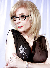 Nina Hartley SFW in black dress