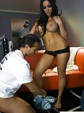 Audrey Bitoni sucks and rides cock