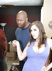 Hot-looked milf Kiera King forced by black guy to rough sex