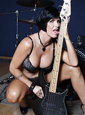 Hot brunette pornstar Shay Fox riding huge black cock