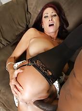 Black guy fuckeng hard hot milf Tiffany Mynx in sexy lingerie