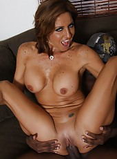 Busty hot tanned milf Tara Holiday with tight ass hard fucked by black guy