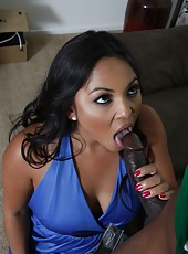 Big ass latina pornstar Adriana Luna fucked hard by big black cock