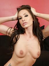 Superb big titted pornstar Randi Wright banged hard by big black cock