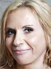 Blonde mature pornstar Brooke Tyler banged hard by huge black cock