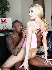 Busty blonde milf Blake Rose fucked hard and facialized by tattoed black guy