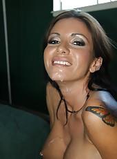 Black Santa fuck hot tattoed milf pornstar Alyiah Stone with huge cock
