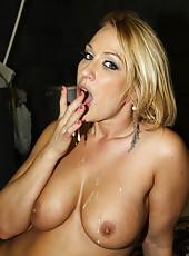 Mellanie Monroe is filthy interracial slut who love swallow cum