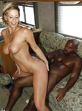Great-body milf Phyllisha Ann with perfect ass riding black cock on sofa