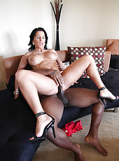 Hot brunette Kendra Secrets get a cumshot from black guy