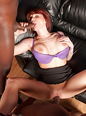 Tattoed hot bitch Monroe Valentino suck two black dicks