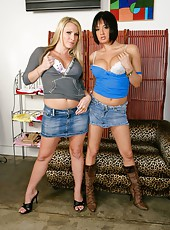 Passionate lesbian action with nasty bitches named Harmony Rose and Tory Lane