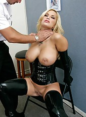 Hardcore and sexy fuck with a busty blonde bitch whose name is Shyla Stylez