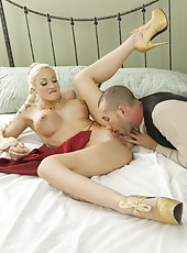 Amazing anal fuck with a cute and gorgeous blonde girl named Leya Falcon