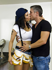 Hardcore and hot fuck with a dangerous brunette lady named Shay Sights