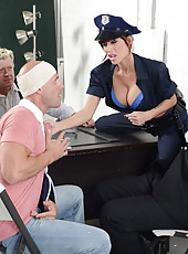 Hardcore anal fuck with a dangerous brunette milf named Gia Dimarco