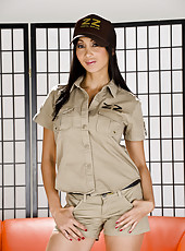 Asian bombshell Katsuni takes off her postman
