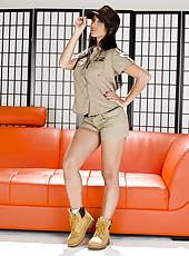 Asian bombshell Katsuni takes off her postman