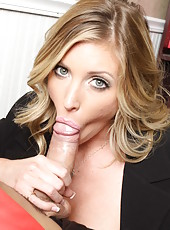 Naughty senator Samantha Saint has sweet time with hot office man