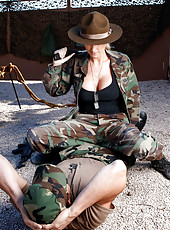 Big tits in sexy camo uniform by Blake Rose enjoy this hardcore fuck