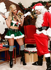 Horny milf Phoenix Marie makes Santa happy with her wet holes and huge breast