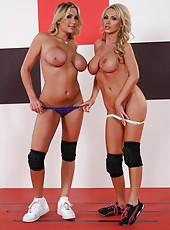 Great lesbian scene with naughty milfs named Alanah Rae and Nikki Benz