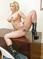 Busty blonde with hot temperament Shyla Stylez is the hottest policewoman