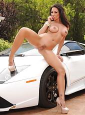 Luxury car needs luxury car-washers Kirsten Price, Madison Ivy, Monique Alexander and Rachel Starr