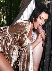 Sexy brunette milf Keira Knight starts out with a blowjob and gets fucked outdoors