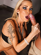 Hardcore blonde named Devon got the biggest cock in her life right in the ass