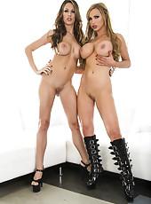 Crazy and gorgeous lesbians Kortney Kane and Nikki Benz show their bodies