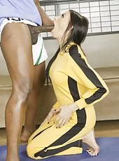 Hardcore interracial fuck with a hot brunette bitch named Juelz Ventura
