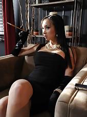 Hot dark haired milf Katsuni fucks with her boyfriend and sucks a huge cock