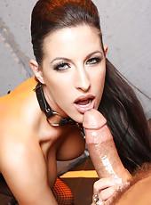 Horny brunette milf named Kortney Kane gets a big and tasty dick