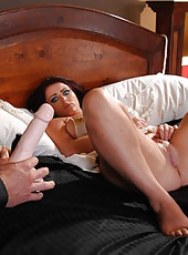 Perfect woman for a sweet sex Sophie Dee fucked hardcore in her own bedroom