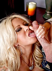 Blonde milf Helly Hellfire looks amazing taking big cock in her beautiful holes